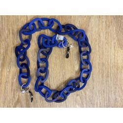 Cadena de resina azul